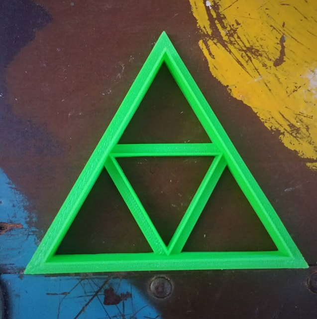 3D Printed Cookie Cutter Inspired by The Legend of Zelda Tri-Force