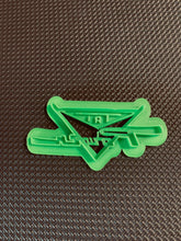 Load image into Gallery viewer, 3D Printed Cookie Cutter Inspired by a '59 Pontiac Tri Power Emblem