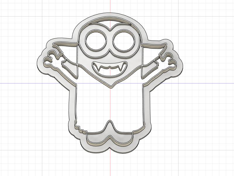 Printed Cookie Cutter Inspired by Vampire Minion