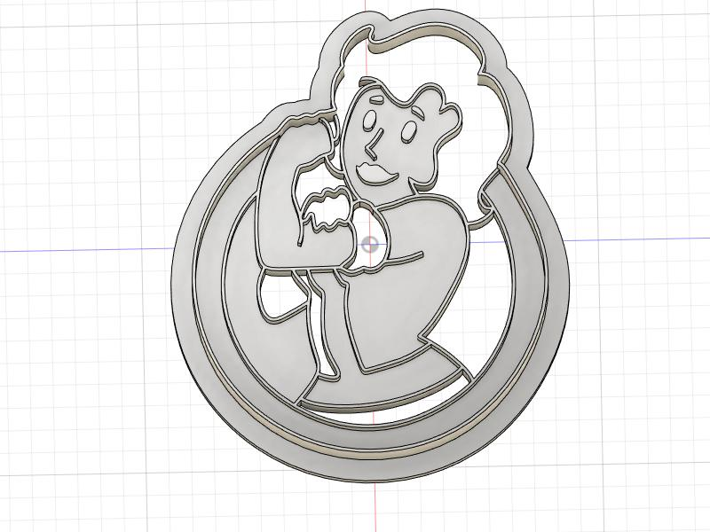 3D Printed Cookie Cutter Inspired by Fallout Vault Girl
