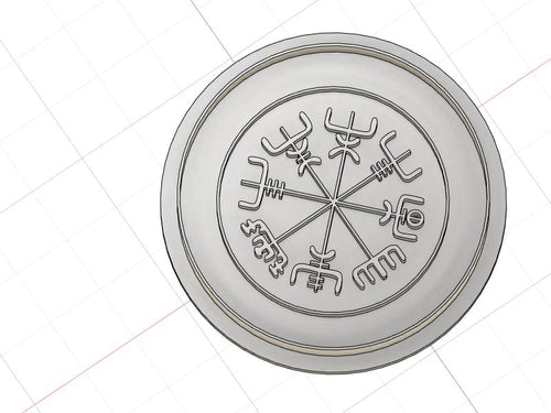3D Printed Viking Compass Cookie Cutter