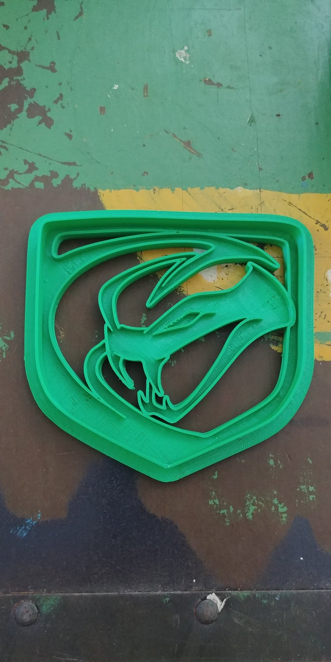 3D Printed Cookie Cutter Inspired by Dodge Viper Stryker Emblem
