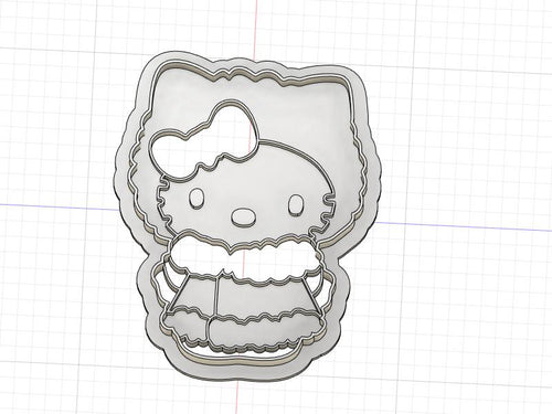 3D Printed Cookie Cutter Inspired by Winter Hello Kitty