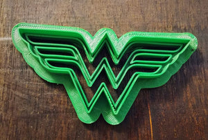 3D Printed Cookie Cutter Inspired by Wonder Woman Logo