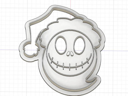 3D Printed Cookie Cutter Inspired by Nightmare Before Christmas Santa Jack