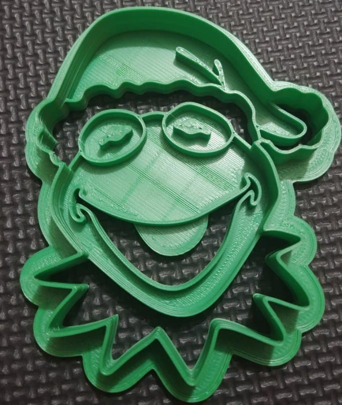 3D Printed Cookie Cutter Inspired by Christmas Kermit the Frog