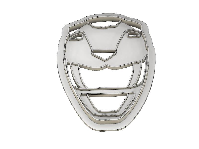 3D Printed Cookie Cutter Inspired Yellow MMPR Ranger