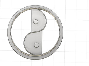 3D Printed Yin Yang Cookie Cutter