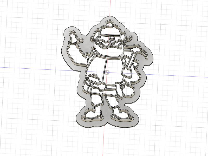 3D Printed Cookie Cutter Inspired by Rudolph the Red Nosed Reindeer's Yukon Cornelius