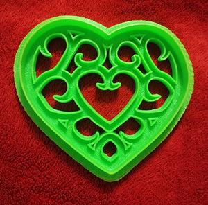 3D Printed Cookie Cutter Inspired by Zelda Heart