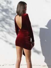 Liem Velvet Dress - Bordeaux