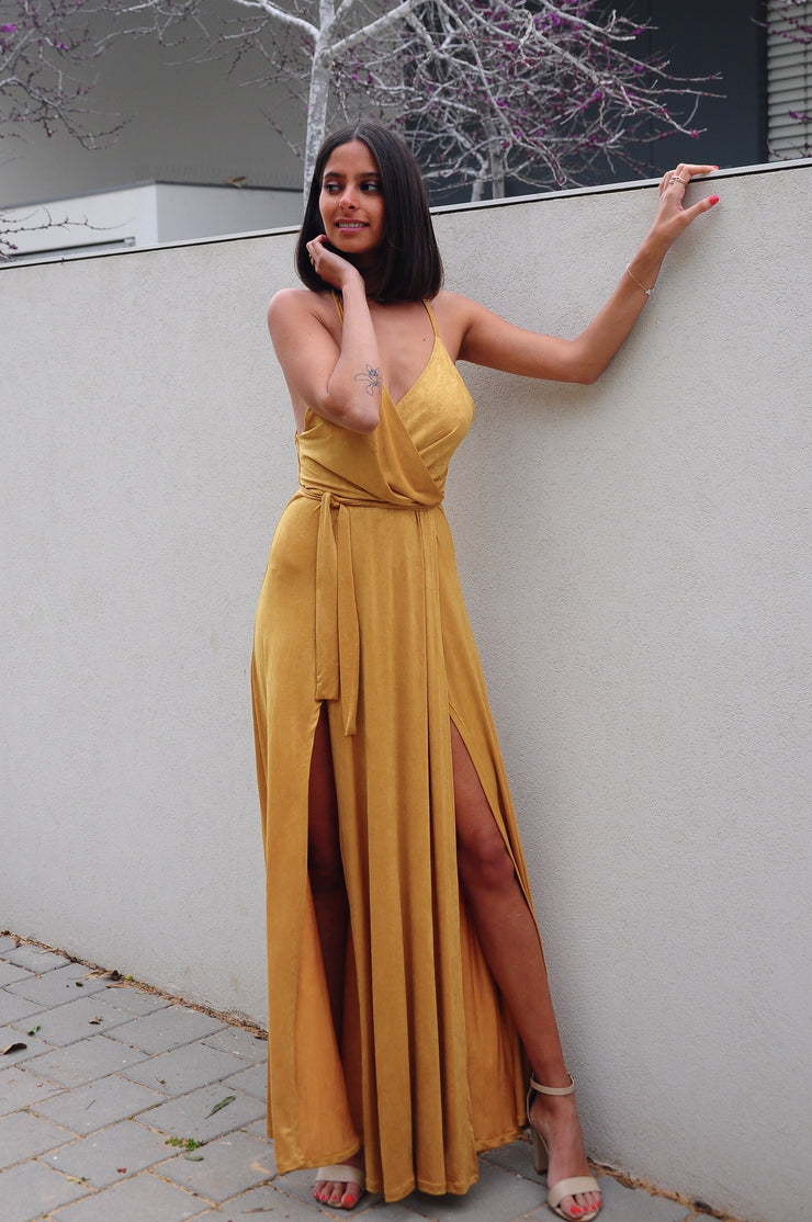 Two Slits Dress - Yellow