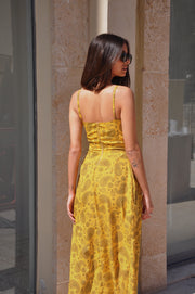 Poly Dress - Yellow Pattern