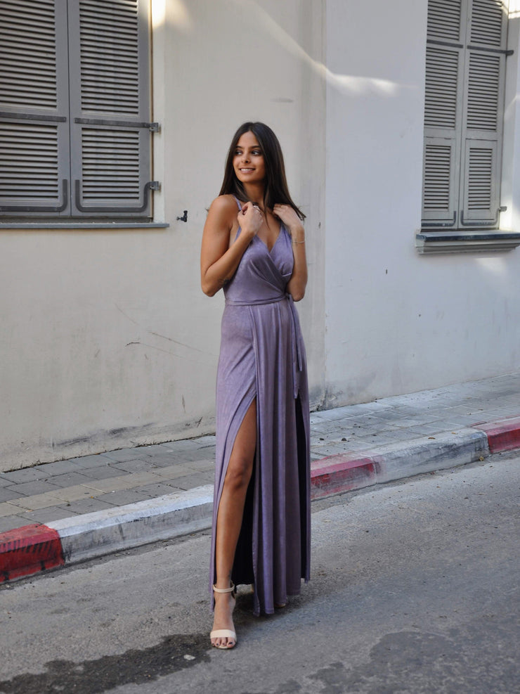 Two Slits Dress - Light Purple