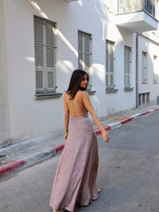 Two Slits Dress - Nude Pink