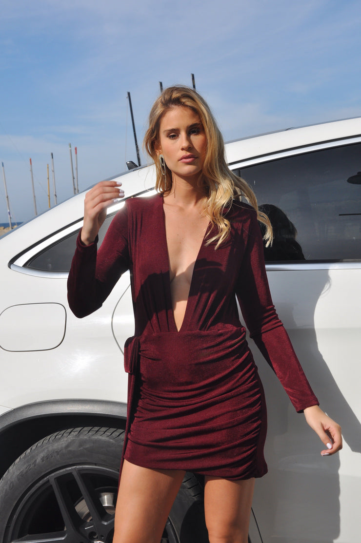 Liem Bizou Dress - Bordeaux