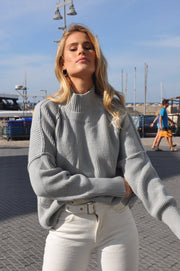 Julian Turtle Neck - Grey