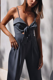 Poly Jumpsuit - Blue Grey