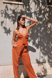 Poly Jumpsuit - Orange