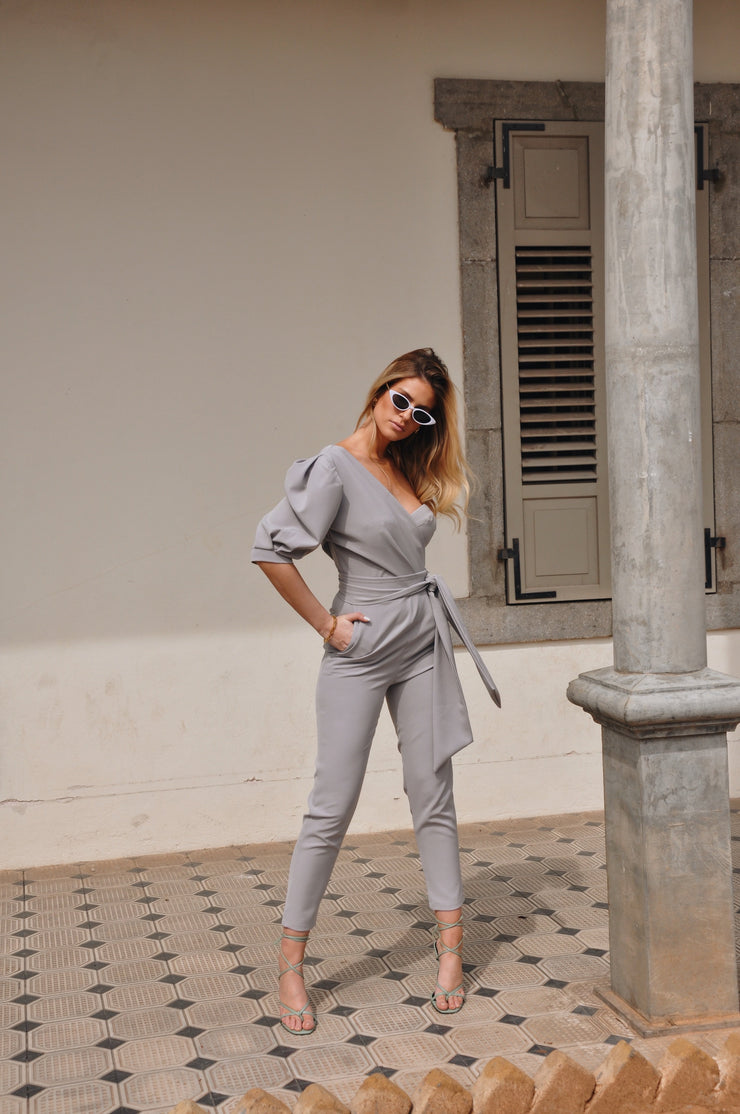 Melody Jumpsuit - Light Grey