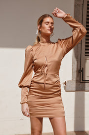 Emma Dress - Camel