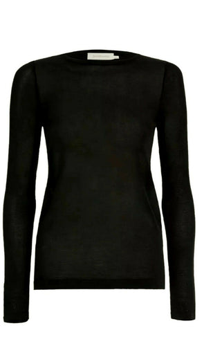 ZIMMERMANN BLACK LONG SLEEVES TEE