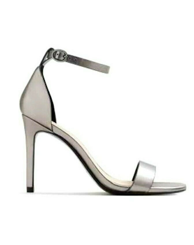 MANGO METALLIC ANKLE-CUFF HIGH HEELS