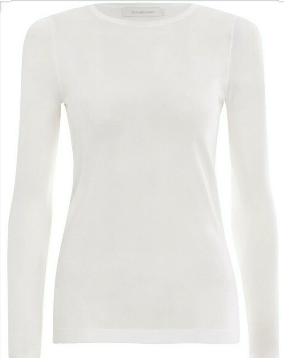 ZIMMERMANN White Long Sleeves Tee