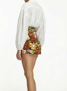 ZIMMERMANN BONITA LACE UP SHIRT