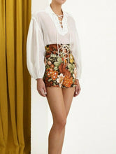 Load image into Gallery viewer, ZIMMERMANN BONITA LACE UP SHIRT
