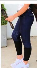 Load image into Gallery viewer, Dalia Lehmann Navy Blue Crystal Breech. Knee grip ON SALE