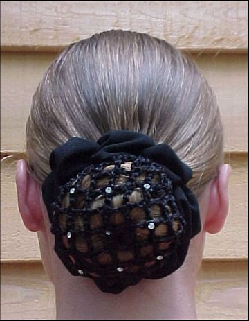 Whinny Widgets Hair Net Scrunchie With Clips