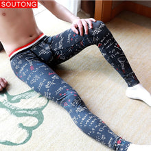 Load image into Gallery viewer, Soutong 2019 Winter Warm  Men Long Johns Cotton Printed Thermal Underwear Men Thermo Underwear Long Johns Men Thermal Pants qk04