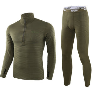 Aismz Men Winter Fleece Tactical Underwear Long Johns Uniforms Military Army Polartec Compression Thermal Warm Underwear Sets