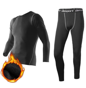 New Winter Thermal Underwear Pant+Clothing Men Quick Dry Warm Long Johns Set Male Warm Fitness Thermo Underwear Set