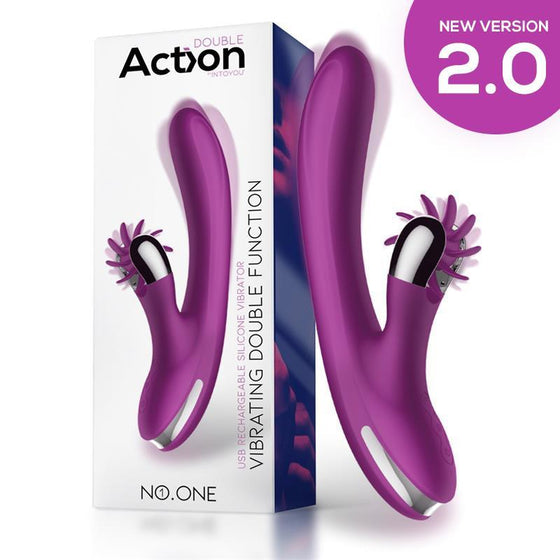ACTION NO. ONE VIBRADOR CON RUEDA ESTIMULADORA VERSIÓN 2.0 - Chocolate-Love-sexshop