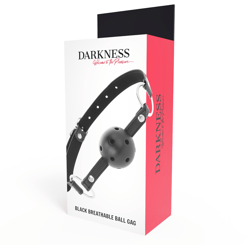 DARKNESS MORDAZA TRANSPIRABLE NEGRO - Chocolate-Love-sexshop