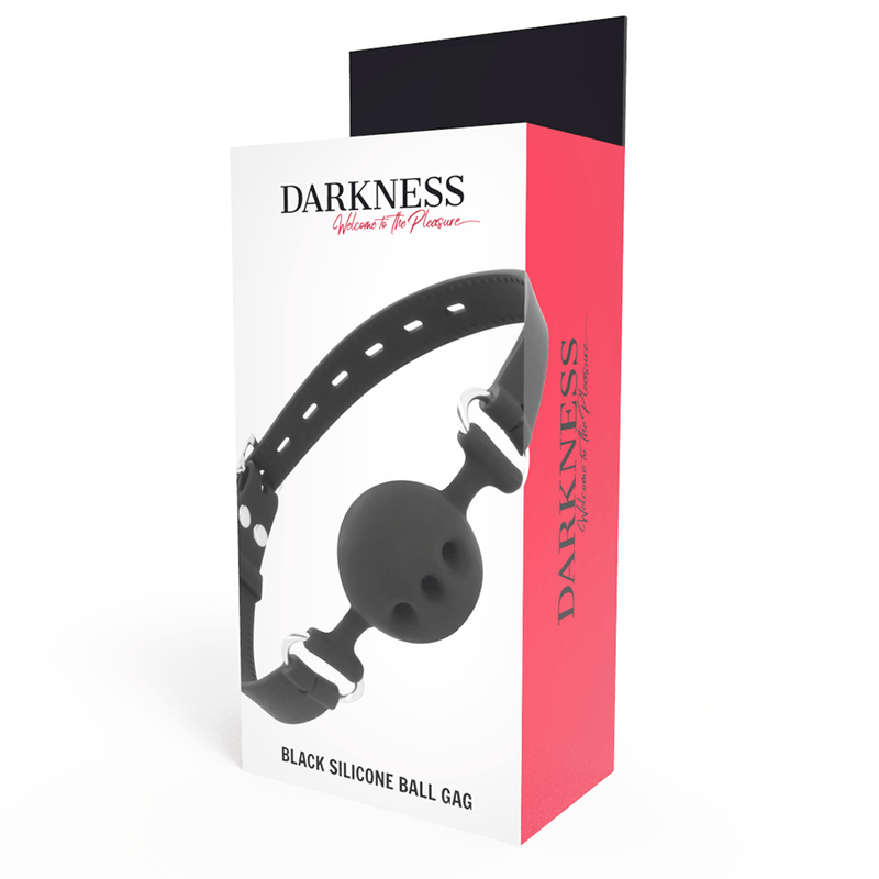 DARKNESS MORDAZA TRANSPIRABLE SILICONA NEGRO - Chocolate-Love-sexshop