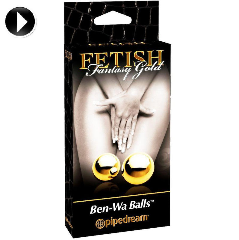 FETISH FANTASY GOLD BOLAS MEDIANAS BEN-WA METALICAS DORADADAS - Chocolate-Love-sexshop