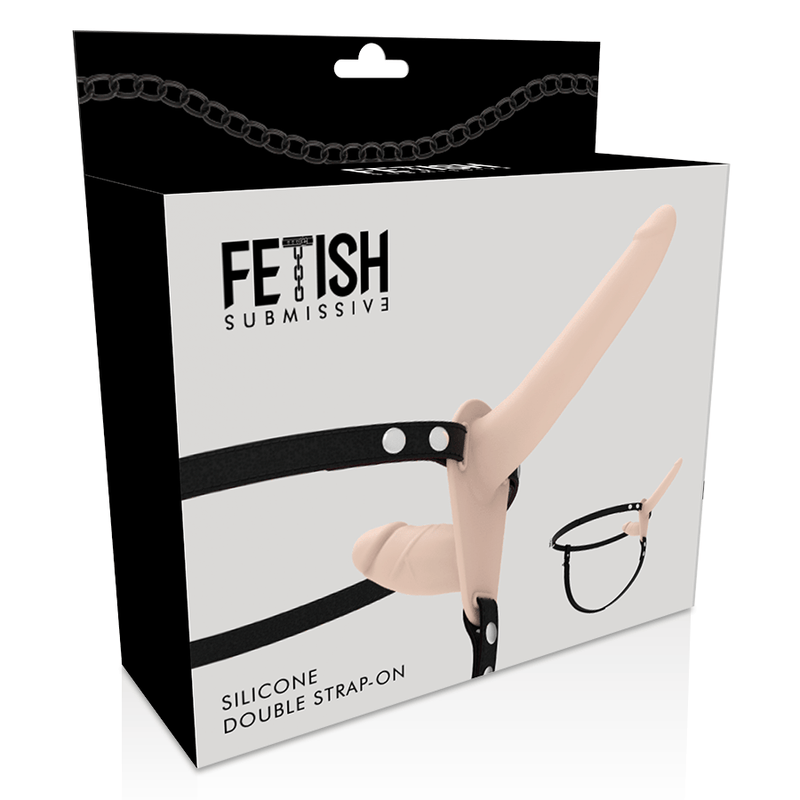 FETISH SUBMISSIVE ARNÉS DOBLE PENETRACIÓN FLESH UP - Chocolate-Love-sexshop