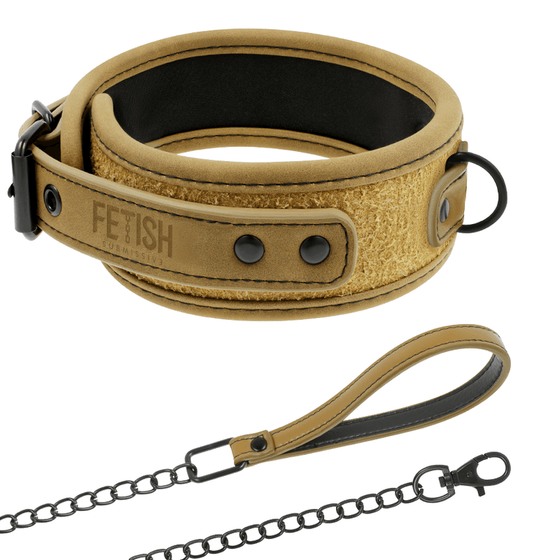 FETISH SUBMISSIVE ORIGEN COLLAR CON CADENA - Chocolate-Love-sexshop