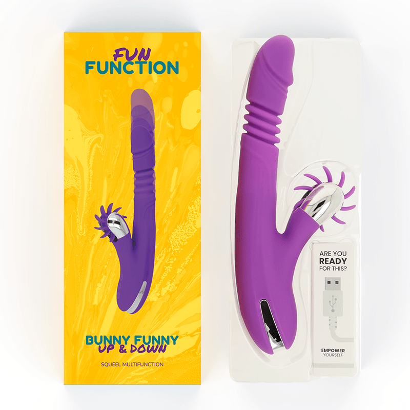 FUN FUNCTION BUNNY FUNNY UP & DOWN 2.0 - Chocolate-Love-sexshop