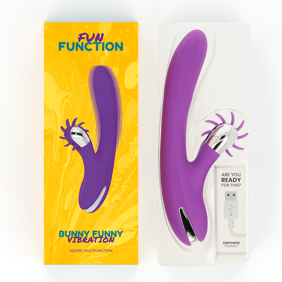FUN FUNCTION BUNNY FUNNY VIBRATION 2.0 - Chocolate-Love-sexshop