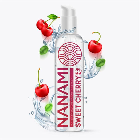 NANAMI LUBRICANTE BASE DE AGUA CEREZA DULCE 150 ML - Chocolate-Love-sexshop