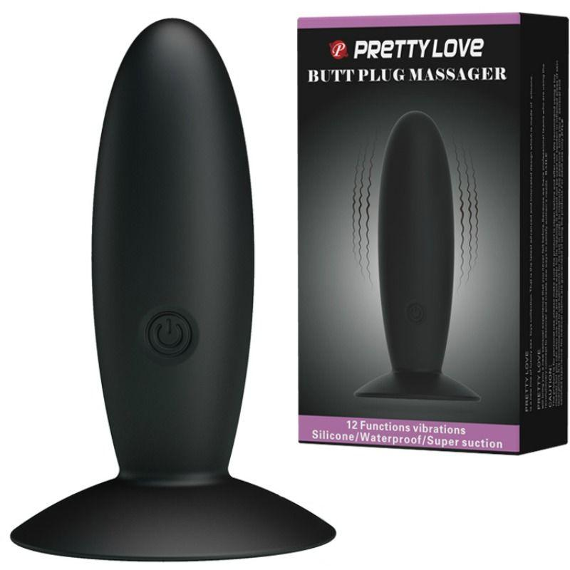 PRETTY LOVE BOTTOM PLUG ANAL SILICONA RECARGABLE - Chocolate-Love-sexshop