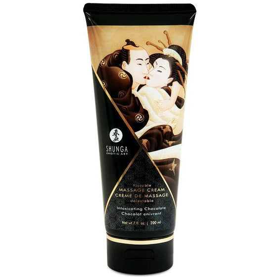 SHUNGA CREMA MASAJE CHOCOLATE 200ML - Chocolate-Love-sexshop