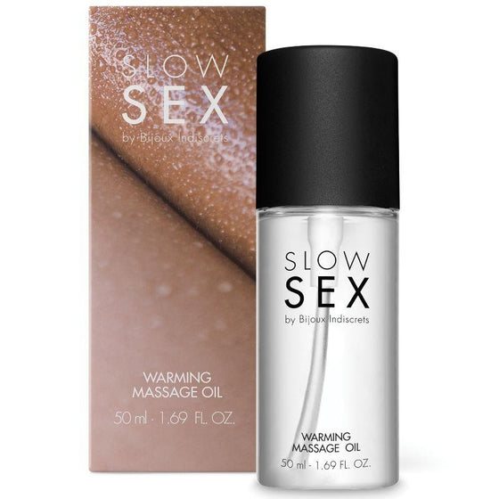 SLOW SEX ACEITE MASAJE EFECTO CALOR 50 ML - Chocolate-Love-sexshop