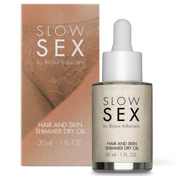 SLOW SEX ACEITE SECO ILUMINADOR MULTIFUNCION 30 ML - Chocolate-Love-sexshop