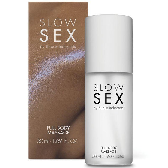SLOW SEX FULL BODY MASSAGE GEL DE MASAJE 50 ML - Chocolate-Love-sexshop