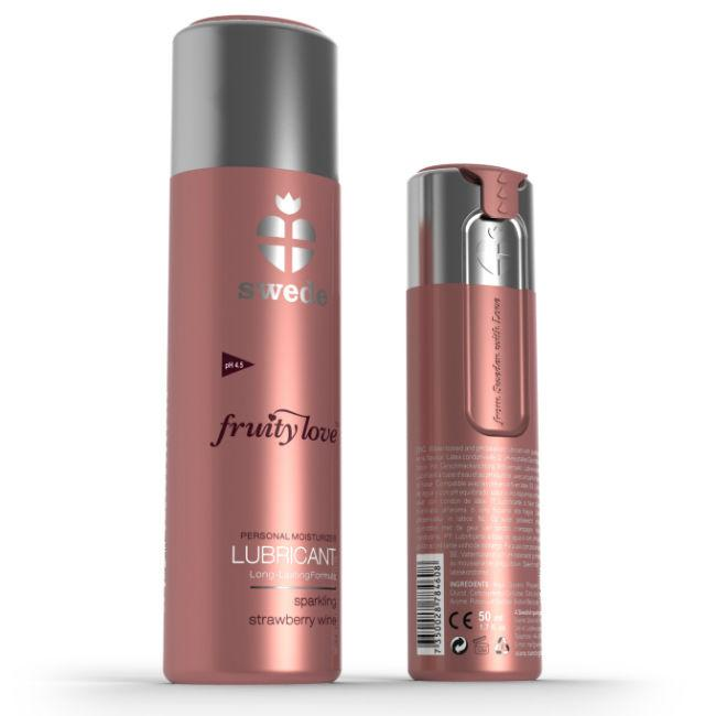 SWEDE -FRUITY LOVE LUBRICANTE FRESAS CON CHAMPAGNE 100 ML - Chocolate-Love-sexshop